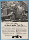 1960 White Motor Company Cleveland OH Compact 9064 cement truck vintage print ad