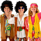 60s Hippie Kids Fancy Dress Funky 1960s 1970s Childs Childrens Hippy Costume New
