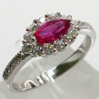 silver ruby - PRETTY RUBY MARQUISE CUT 925 STERLING SILVER RING SIZE 5-10