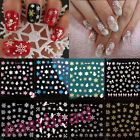 Christmas Snowflakes Design 3D Nail Art Stickers Decals Nail Decoration Xmas DIY