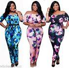 New Women Ladies Strapless Bodycon Jumpsuit Romper Playsuit Trousers Plus Size