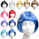 Cosplay Women Girl BOB Short Party Costume Fancy Wigs Hair Hairpiece 12 Colours