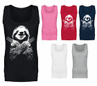 Womens Wolversloth Wolverine Sloth Funny Vest Tank Top NEW