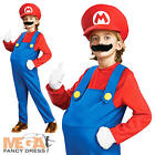 Deluxe Super Mario Bros Boy's Fancy Dress Kids Nintendo Game Costume 1-10