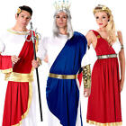 Roman Adults Fancy Dress Historical Greek Grecian Toga Womens Mens Costume New