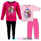 Girls Frozen Movie Pyjama Set Kids Anna Elsa Sisters PJS Long Sleeve Pyjamas