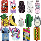 OEM 3D Cute Cartoon Soft Silicone Back Rubber Case Cover For iPhone Various