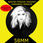 BLONDIE DEBBIE HARRY -58 mm BADGE-FRIDGE MAGNET OR MIRROR #4569