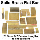 Brass FLAT BAR 23 Sizes & 6 Lengths to choose from Metalwork Model engineering