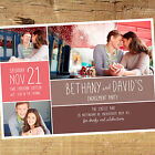 Personalised Photo Engagement Party Invitation / Invites BE006 A6 Glossy Card