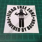 Jihad Free Zone Powered By Bacon 2A 3P Infidel Patriotic American Decal Sticker