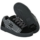Childrens Heelys Hustle Trainers In Black And White From Get The Label