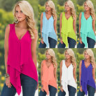 Sexy Womens Sleeveless Chiffon Vest Tank Tops Ladies Summer Casual Shirt Blouse