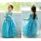 Girl Kid Princess Queen paillette Cosplay Costume Fancy Tulle Cape Dress EN24H