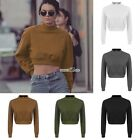 Crop Top Women Hoodie Sweatshirt Jumper Sweater Print Coat Sports Pullover TopsS