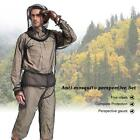 Hiking Fishing Camping Bee Feeding Fishing Hunting Mosquito Suit Jacket U1i9