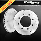 Rear Drilled Slotted Brake Rotors 2007 Ford E150 Econoline