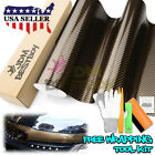*2D Black Gold Premium High Gloss Glossy Carbon Fiber Vinyl Wrap Sticker Decal