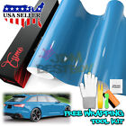*2D Black High Gloss Glossy Carbon Fiber Vinyl Car Wrap Sticker Decal Film Sheet