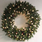 Giant Artificial Christmas Wreath - Green Pine Prelit Warm White LED Lights