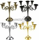 Metal 5-Arms Wedding Table Candlesticks Candelabra Candle Holder For Home Decora
