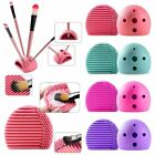 Silicone Makeup Brush Cleaner Washing Scrubber Cosmetic Cleaning Glove Holder