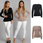 AUTUMN Casual Women's Blouse Long Sleeve Cotton Shirt Sexy V-Neck T-Shirt Tops