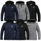 Mens Jacket Rawcraft Sweat Coat Hooded Top Diamond Fur Lined Heavy Winter New