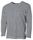RUSSIAN MARINE NAVY STRIPED LONG SLEEVE T-SHIRT TELNYASHKA SAILOR SM-XXXL