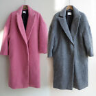 c2 Mohair Alpaca Tailored collar Over sized Cocoon style long coat from Korea