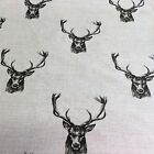 Cotton Canvas Fabric Stag print Fat print 1/4 50x70cm or Meter 100x140cm
