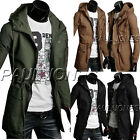 Military MENS Slim Hoodies Coat Parka Trench Coat Hooded Jacket Army Style Coats