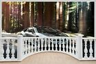Huge 3D Balcony Bmw I8 Super Car Wall Stickers Film Decal Mural 1120