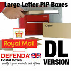 DL PRICING IN PROPORTION PIP POSTAL POSTING BOXES Mailers Large Letter QP-DL