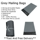 Grey Mailing Bags Plastic Postage Strong Mailing Sacks Postal Small Medium Large