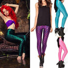 WOMEN'S IDEAL SIMULATION MERMAID FISH SCALE SKINNY PANTS STRETCH SLIM LEGGINGS