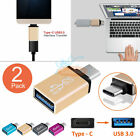 2PCS USB 3.1 Type C Male to USB 3.0 Female OTG Data Sync Adapter for Macbook