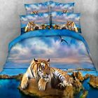 Tiger Quilt Doona Cover Set Single/Queen/King/Super King Bed Size Duvet Covers