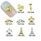10pcs Nail Art Charm Alloy Gold&Silver Style Decoration Jewelry TN1539-TN1546
