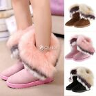 2015 NEW Women's Snow Boots Winter Warm Faux Fur Ankle Boots Casual Shoes DZ88