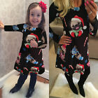 Womens Ladies Kids Christmas dress Santa Snow Snowflake Novelty Plus Size S-XXL