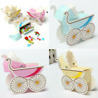2 pcs Candy Box Stroller Shape Box Party Wedding Baby Shower Favor Paper Gift