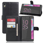 """9 Colors Leather Case Flip Wallet Cover For Sony Xperia C6 ultra 6.0"""""""