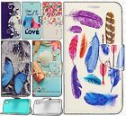 For Alcatel Idol 4 Premium Leather Wallet Case Pouch Flip Phone Cover Accessory
