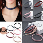 New Gothic Men Women Leather Buckle Collar Choker Chain Punk Necklace