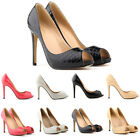 Fashion Crocodile Peep Toe Pump Women Thin High Heels Party Wedding Work Shoes