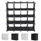 NEW INTERLOCKING 16 PAIRS CUBE SHOE ORGANIZER STORAGE RACK DISPLAY STAND