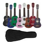 "Glarry UK101 8 Colors 21"" Basswood Ukulele Musical Hawaiian Guitar with Bag"
