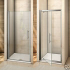 Frameless Shower Enclosure Pivot Door Hinges Cubicle 6mm Glass Screen Bathroom