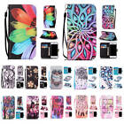For Apple iPhone With Free Strap Case Card Wallet Colored Patterns Leather Cover